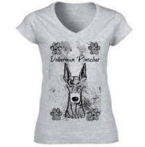 Doberman Pinscher - New Cotton Grey Lady Tshirt - $24.83