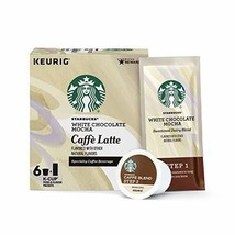 Starbucks White Chocolate Mocha Caffe Latte Med Roast Single Cup Coffee ... - $18.80