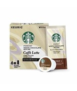 Starbucks White Chocolate Mocha Caffe Latte Med Roast Single Cup Coffee ... - $18.80