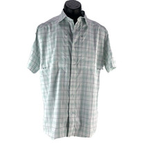 Under Armour UA Mens Tide Chaser Plaid 2.0 Short Sleeve Turquoise Blue M... - $32.00