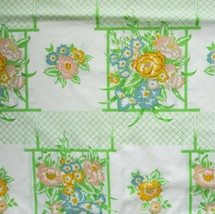 Cannon Monticello Twin Sheet Set Garden Lattice Flat 2 Fitted Cases Vintage - $28.98