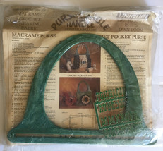 Vintage Purse-N-Able Green Marble Purse Handles 1960s Sewing Crafts 35 I... - $13.81