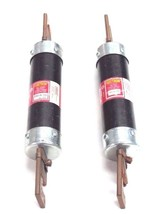 LOT OF 2 FUSETRON FRS-R-150 DUAL-ELEMENT TIME-DELAY FUSES W/ 642-R REDUCERS