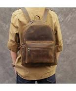 On Sale, Horse Leather Men Backpack, Men Travel Backpack, Laptop Backpack - $165.00
