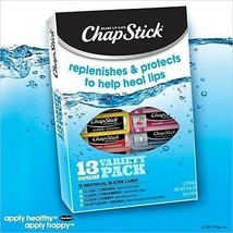 Chap Stick Lip Balm Variety Pack Assorted Flavors Original, Strawberry, ... - $38.98