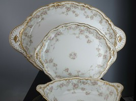 "Haviland Limoges Schleiger 340 18.5"" platter, 11.25"" platter, and 9"" ova... - $322.58"