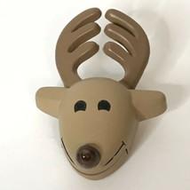 "1988 Hallmark Reindeer Flashing Light Brooch Approximately 3"" - $24.75"