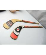 Rare NHL Philadelphia Flyers Mini Hockey Stick Sherwood & Puck World woo... - $28.00