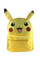 "New! Pokemon Pikachu Large School Backpack 16"" Book Bag with Plush/Fur F... - $24.30"