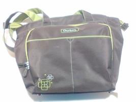 Gerber Baby Diaper Bag Brown Green Zipper Velcro - $14.25