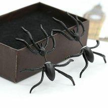 Women Halloween Black Spider Charm Ear Stud Earrings - One Pair image 7