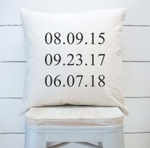 Personalized Throw Pillow- Special Dates, home decor, present, new - £14.44 GBP