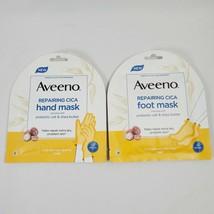 Aveeno Repairing CICA Hand & Foot Mask Lot Skin Relief Moisturizer Shea ... - $6.99