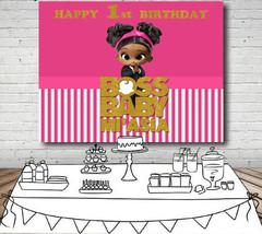 Boss Baby Shower Party Backdrop Vinyl Photography Cartoon Photo Decor Fo... - $14.40+