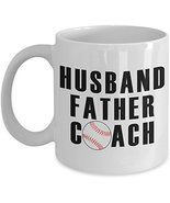 Husband Father Coach Coffee Mug - Novelty Ceramic Cup Daddy Gift for Dads - $14.95+