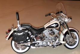 HARLEY DAVIDSON 1993 White FLSTN Heritage Softail Diecast Motorcycle~New... - $16.00