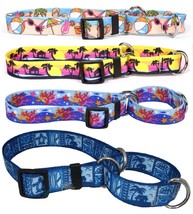 BEACH MARTINGALE DOG COLLARS Adjustable Great for active dogs Made in th... - $10.31+