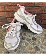 Nike Dart Shoes Size 4.5Y Running Workout Sneakers Pink White Silver Tra... - $29.70