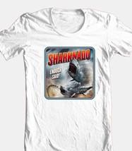 Sharknado T-shirt b-movie sci fi horror film 100% cotton graphic white tee image 2