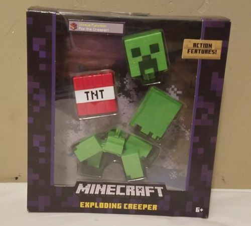 Minecraft Exploding Creeper Mattel 2016 FDG49 Survival Mode Figure RARE Red TNT