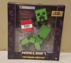 Minecraft Exploding Creeper Mattel 2016 FDG49 Survival Mode Figure RARE ... - $95.98