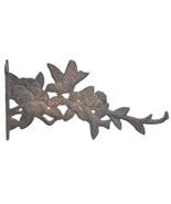"Hummingbirds Plant Hanger Decorative Cast Iron Flower Basket Hook 11.625"" - $16.33"