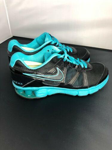 Nike Reax Rocket 2 Running Shoes 454175 004 Black Aqua Womens Size 8.5 image 7