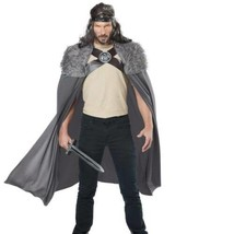 Mens Dragon Lord Gray Medieval Knight 4 Pc Halloween Costume-size M - $39.60
