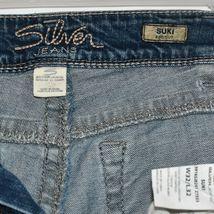 Silver Jeans Women's Suki Bootcut Embroidered Medium Blue Denim Size W32/L32 image 6