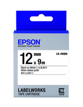 12mm Black on White - Epson LABELWORKS LK-4WBN Tape Cartridges (Pack of 4) - $74.99
