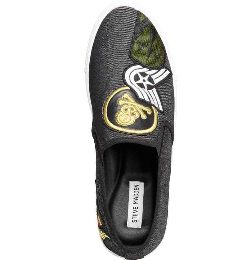 Steve Madden Wasdin Navy Blue or Military Denim Slip On Loafers Mens Vintage image 12