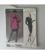 Vogue Paris Original Yves Saint Laurent 2581 Sewing Pattern Coat Dress S... - $19.79