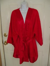Victoria's Secret Red Short Kimono Robe One Size Women's Euc - $24.80