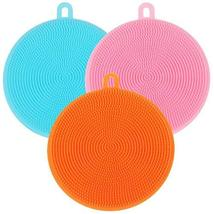TRIXES Pack of 3 Multipurpose Silicone Scrubbing Pads Bathroom Kitchen Cleaning - $6.39