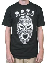 Raza Mens Black or Purple Lucha Libre Luchador Wrestling Campeon Mask T-Shirt NW