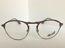 New Persol 7092-V 1072 50mm Rx Round Bronze Men's Eyeglasses Frame  Italy - $149.99