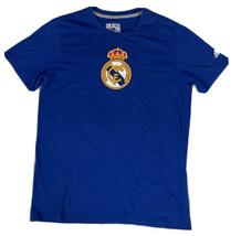Real Madrid FC Men's Adidas Climalite Tee Size Medium Blue - $13.85