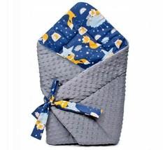 BABY BLANKET SWADDLE WRAP SLEEPING BAG NEWBORN INFANT MINKY COTTON FOX's... - $72.54
