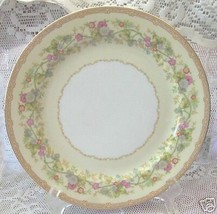 4 Noritake Ariana Dinner Plates Floral Gold #722 Vintage Antique - $42.07