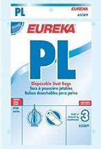 Eureka 62389A PL Vacuum Bags For Eureka! Models 4750 & 4760 3 Count - $9.69
