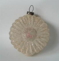 Antique Unsilvered  Daisy Flower Figural German Glass Xmas Ornament Sugar Mica - $22.76