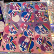 90s Lisa Frank Incomplete Sticker Sheet Pianos Ballet Shoes Hearts Guitars Music image 2
