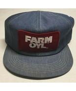 Vtg Farm Oyl Denim Trucker Hat K Brand Made In The USA Patch Cap Farming... - $247.49