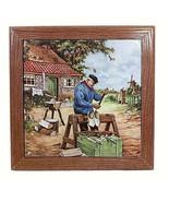 Dutch Tile Trivet Ter Steege BV Holland Clog Maker Windmill Netherlands ... - $19.79