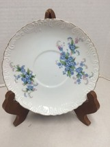 Hand Painted VTG Lefton #186 China Saucer Plate Blue Flowers Hand Painted - $4.90