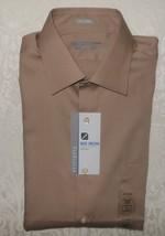 Mens Van Heusen Lux Sateen Fitted Buttondown Dress Shirt Medium 15 32/33... - $19.99