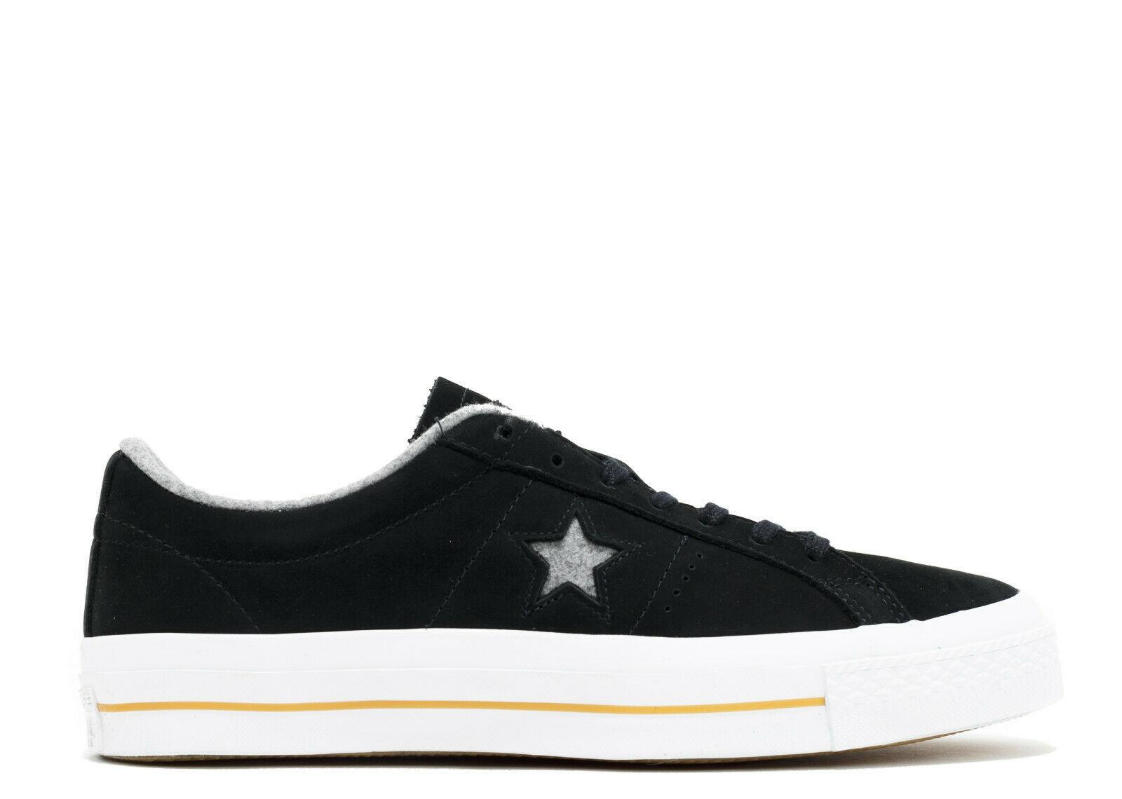 Converse Mens One Star Nubuck Ox Leather 153717C Black/Ash Grey/Gum Size 10
