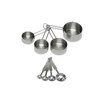 Measuring Cups Spoon Set Stainless Steel Cooking Tools Baking Accessorie... - £6.33 GBP