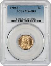 1910-S 1c PCGS MS66 RD - Better S-Mint - Lincoln Cent - Better S-Mint - $1,823.60