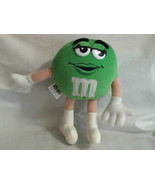 M&M's Girl Ms Green Plush Stuffed Toy 7 1/2 inches Tall Vinyl Boots 1997 - $15.99